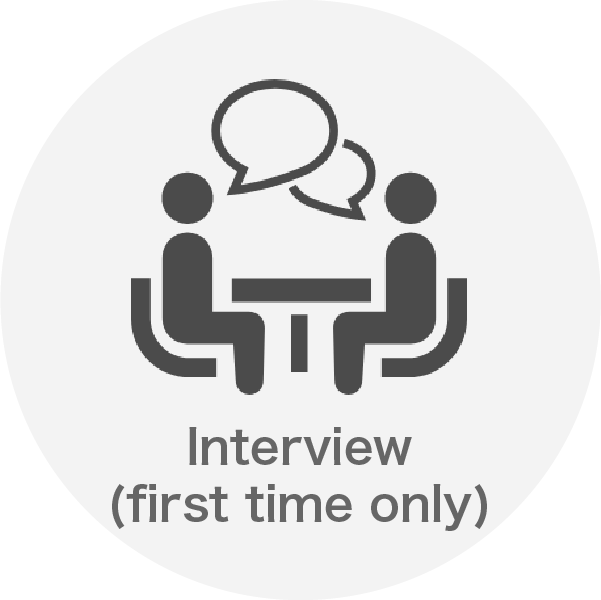 Interview (first time only)
